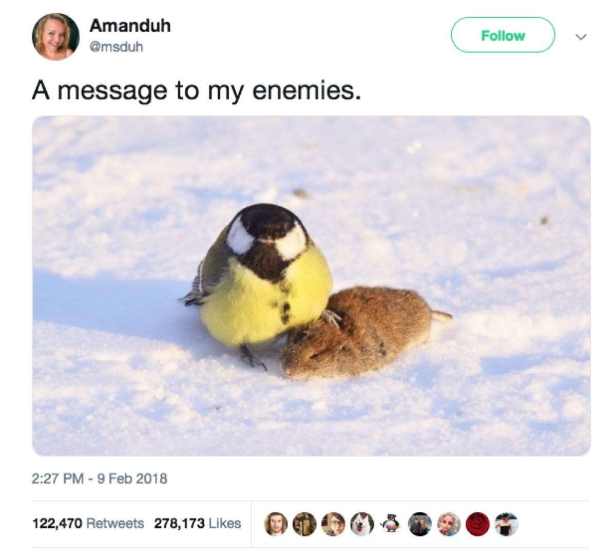 enemy threat tweet