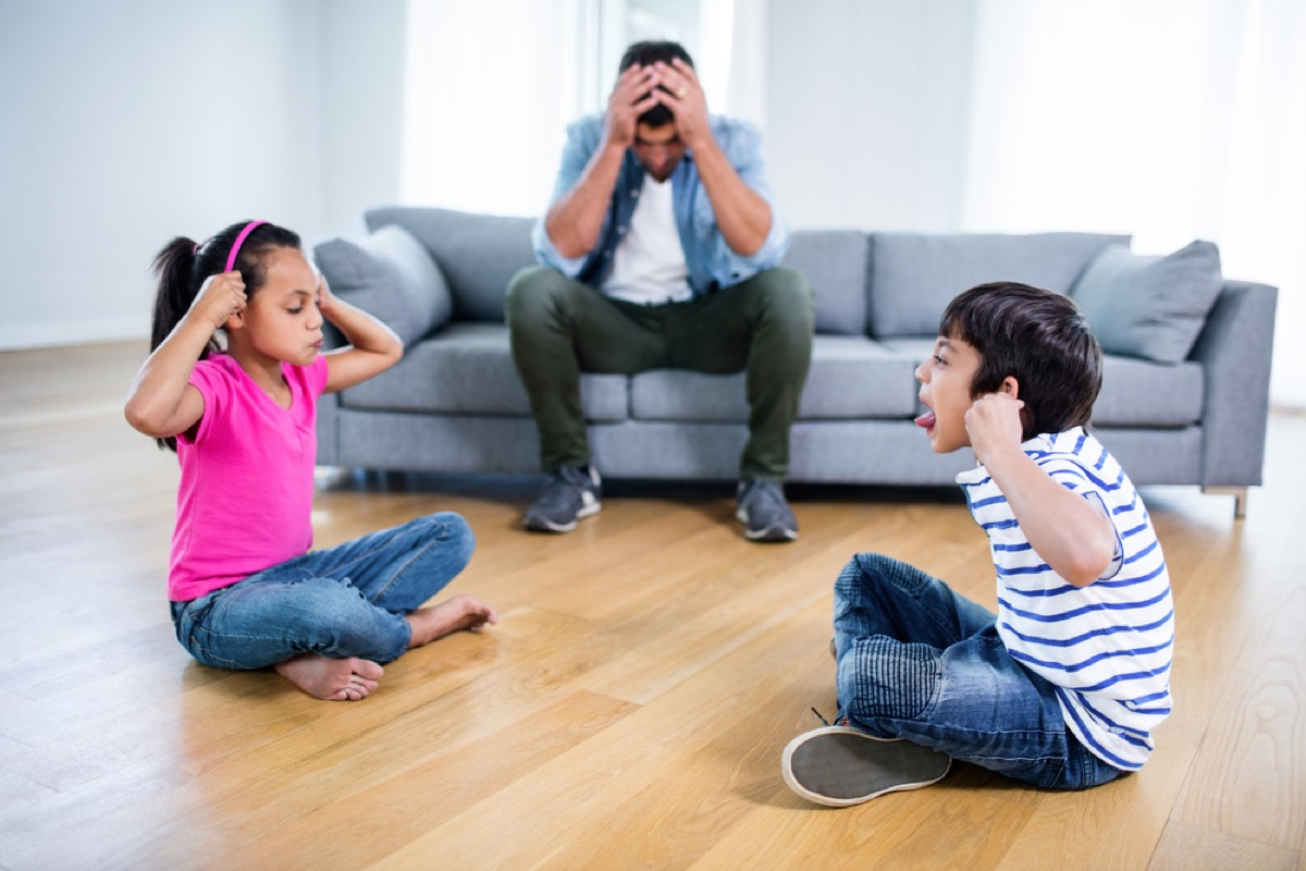 dad feeling frustrated at home, bad parenting advice