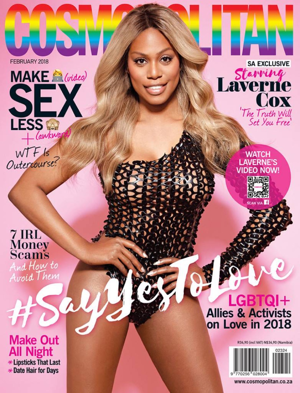 Laverne Cox Cosmo Cover {Best of 2018}