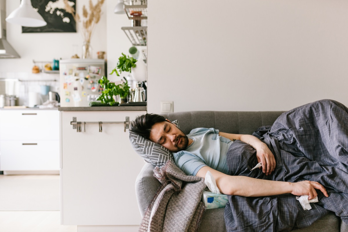 sick at home series with a japanese man and woman.