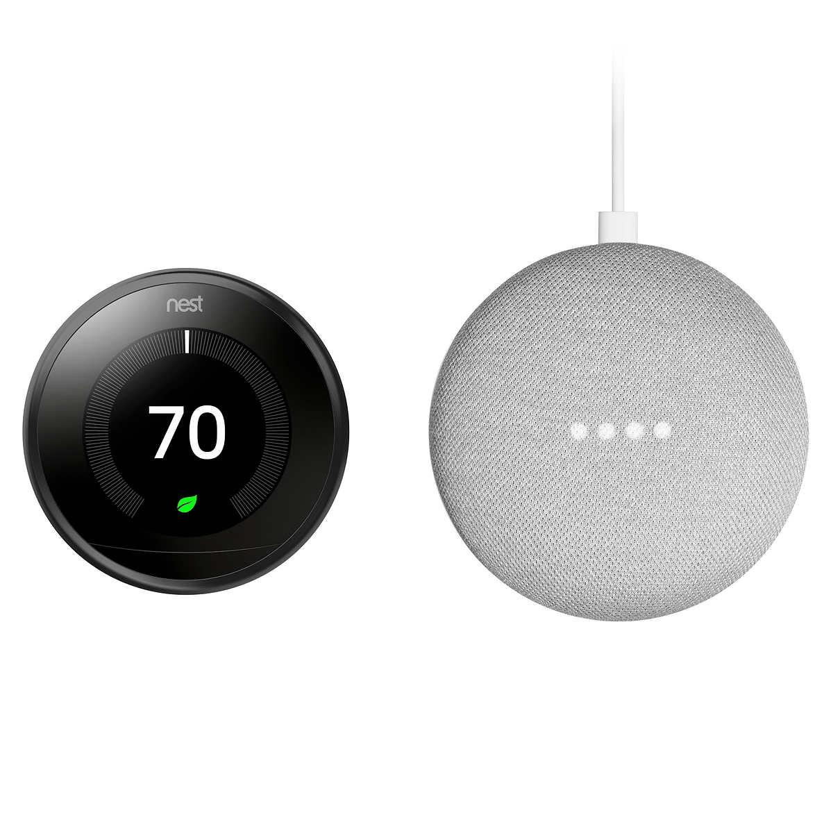 Nest Thermostat and Google Mini {Costco Deals}
