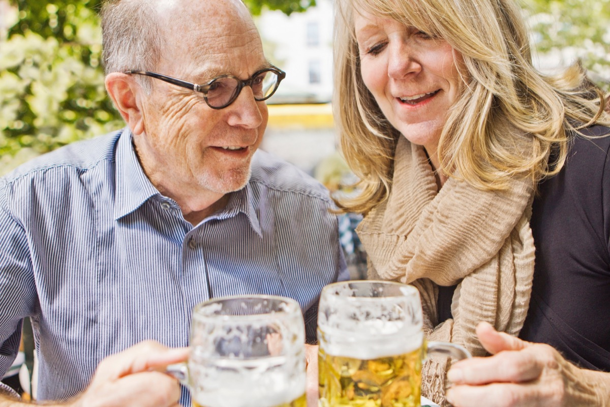 Older Couple Drinking Beers {Secrets to a Long Life}