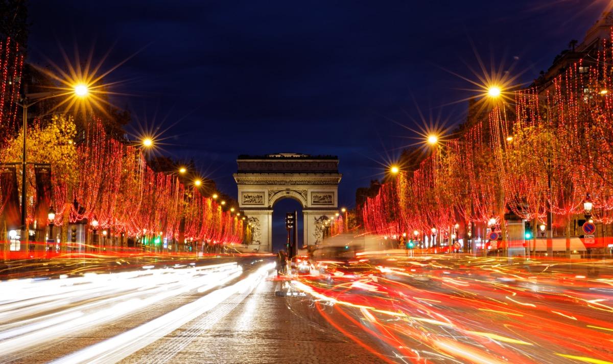 Paris France champs elysees