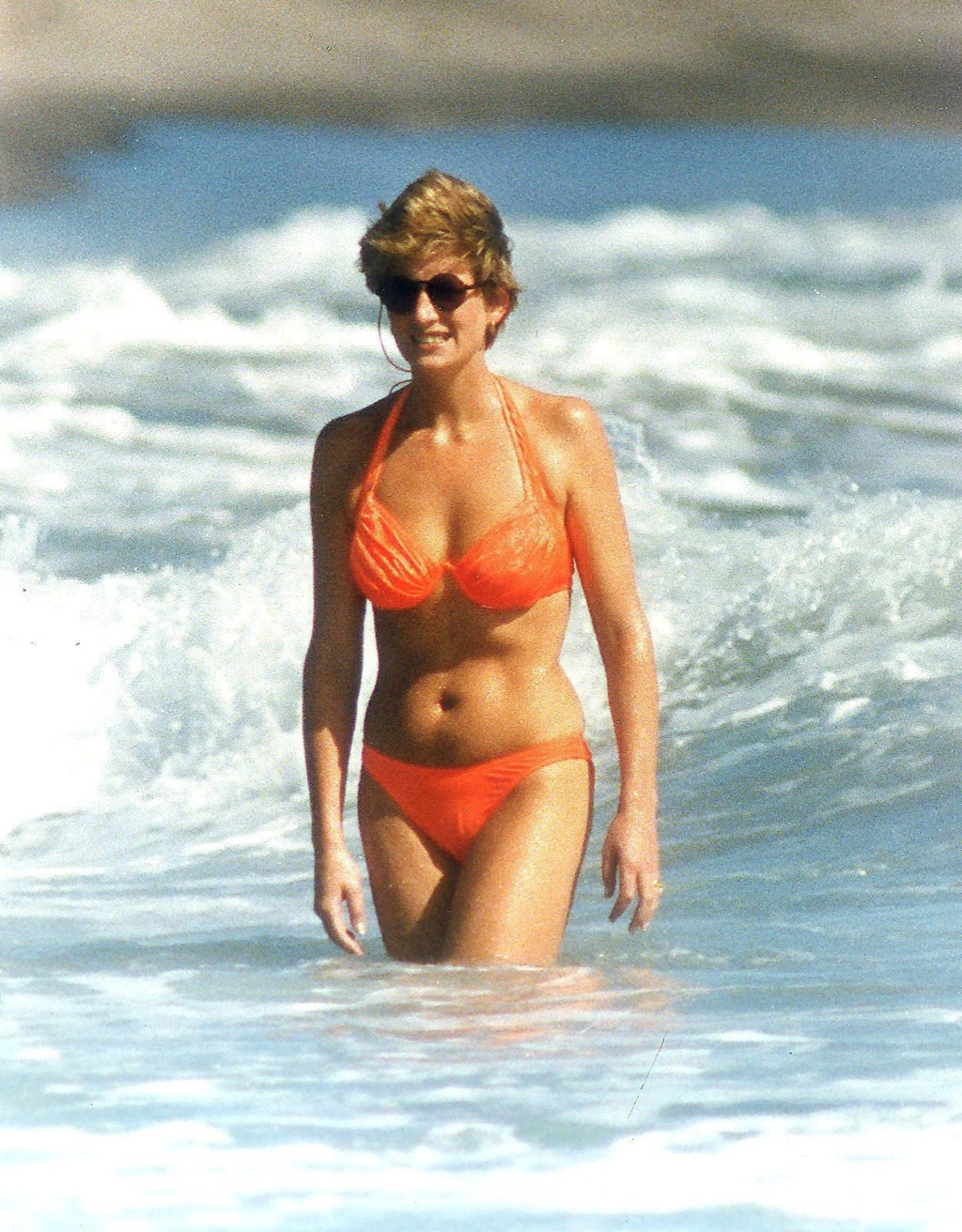 Princess Diana in a bathing suit