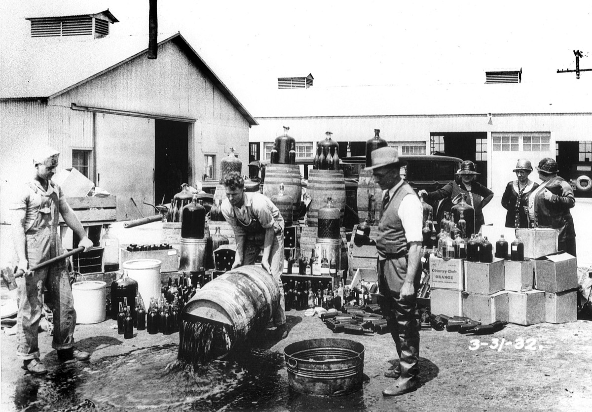Prohibition during the 1920s historical facts