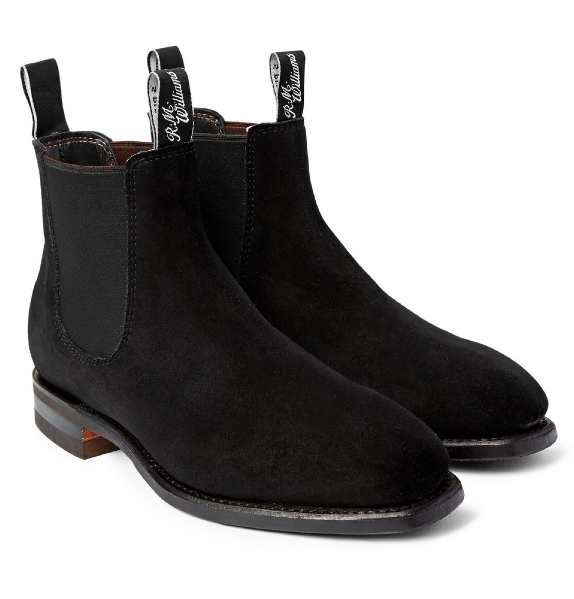 rm williams black suede chelsea boots