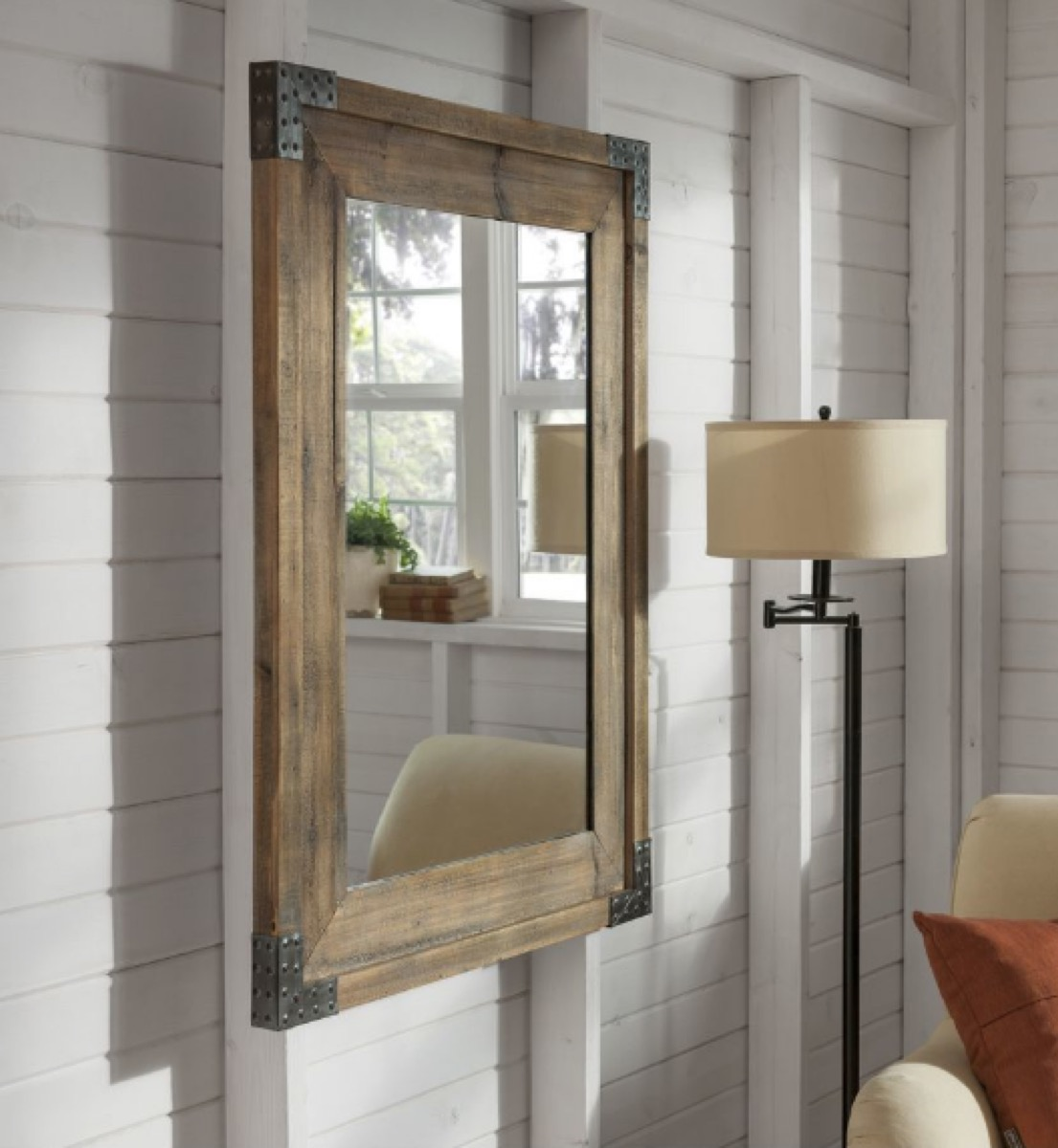 roth + allen rustic mirror on wall buy after holidays