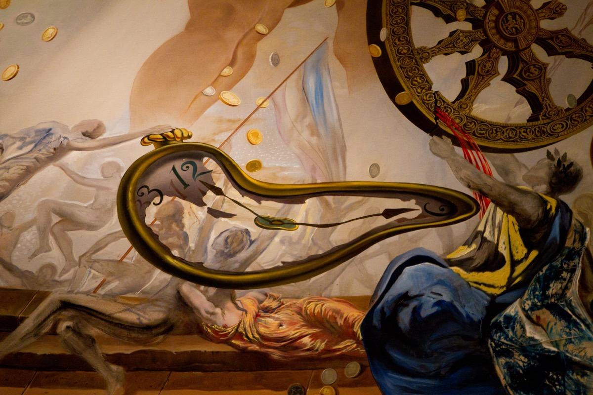 salvador dali paintings in a spain museum