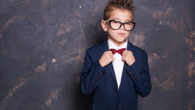 boy wearing suit