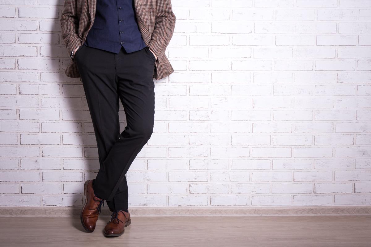 Man wearing pants slacks