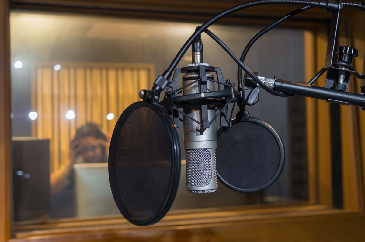 disney microphone recording booth