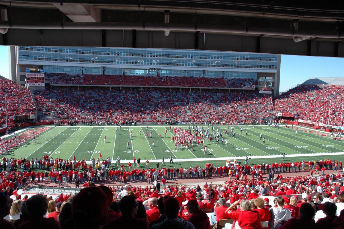 University of Nebraska Huskers Memorial Stadium facts 2018