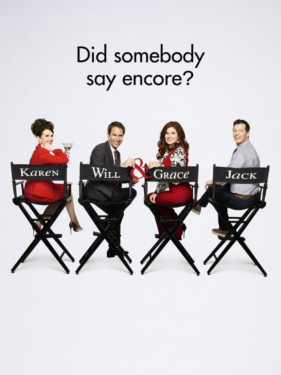 will and grace key art promotional poster