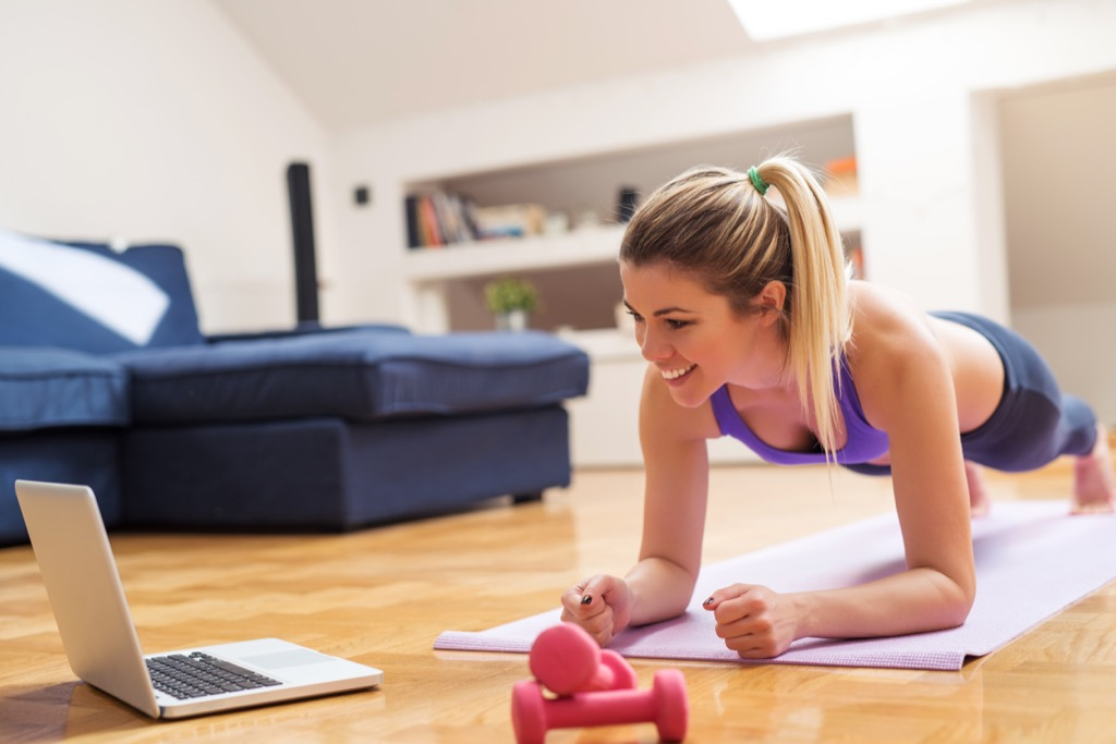 Woman Doing an At-Home Workout {Christmas Gift Ideas}