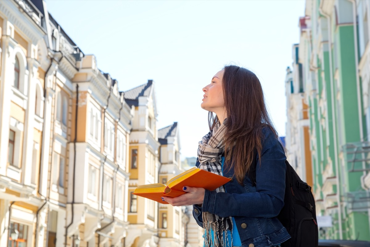 Woman learning foreign language New Year's Resolutions