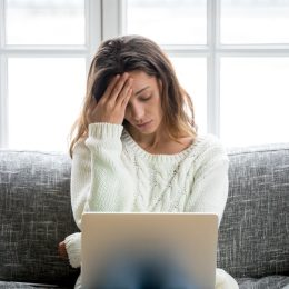 stressed out woman things in your home making you stressed