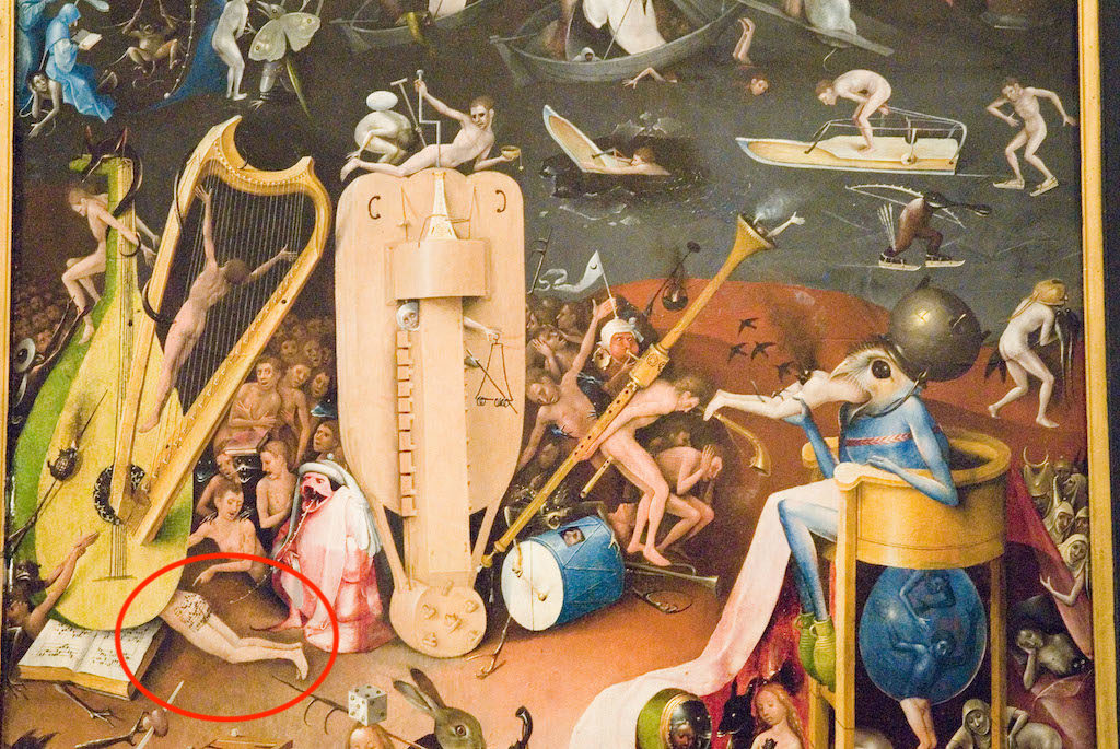 AAAPJF The Garden of Earthly Delights painting by Hieronymus Bosch