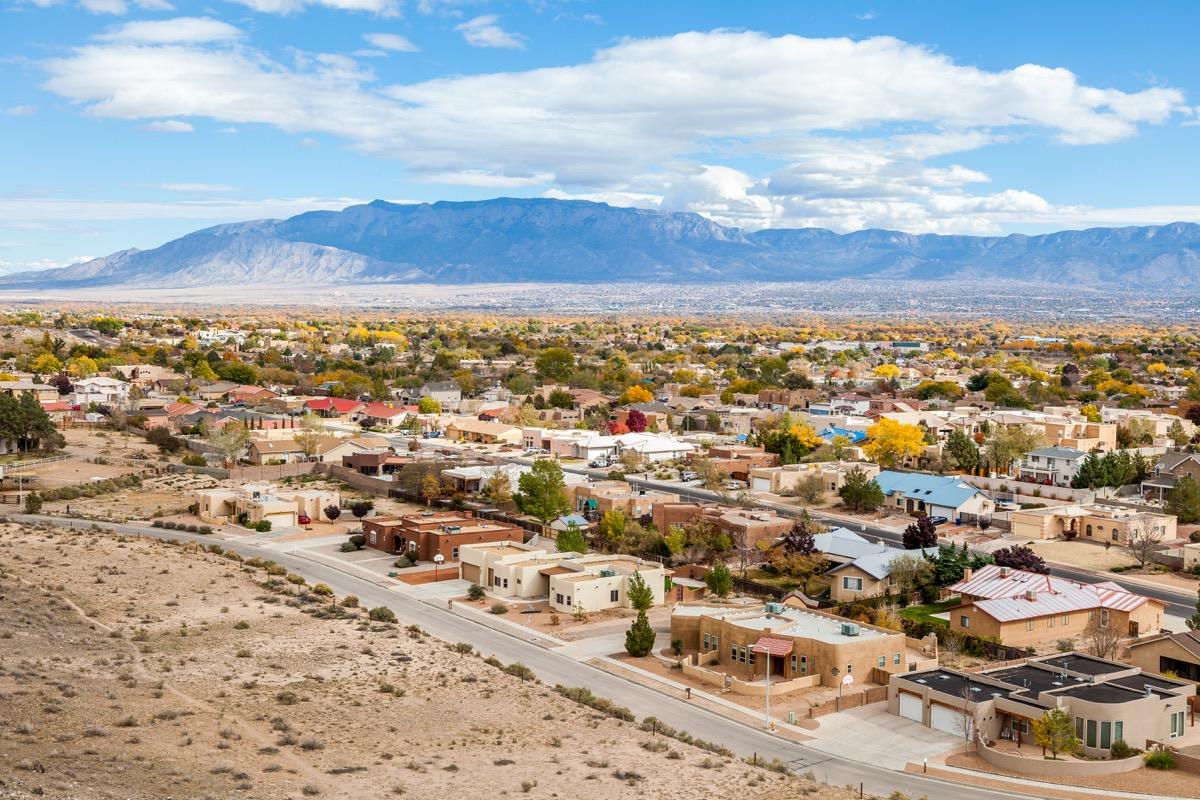 Suburb in Albuquerque, NM