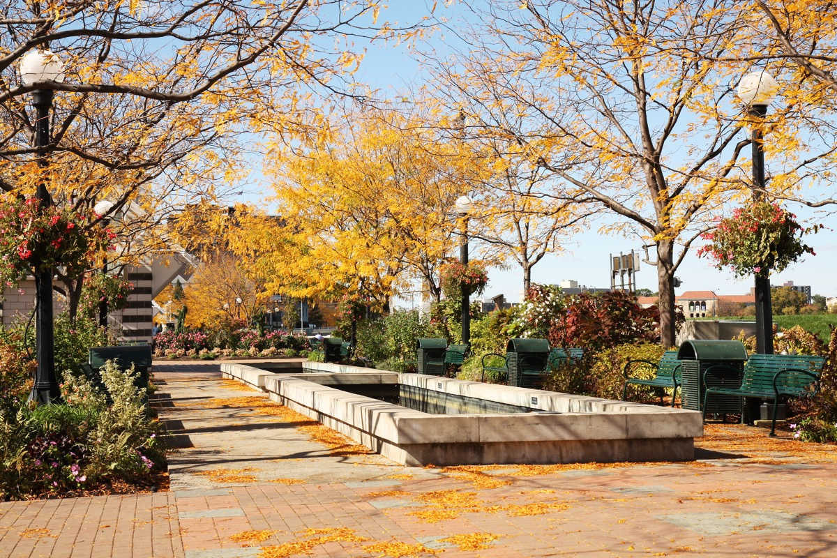 Riverscape Park in Dayton, Ohio in autumn