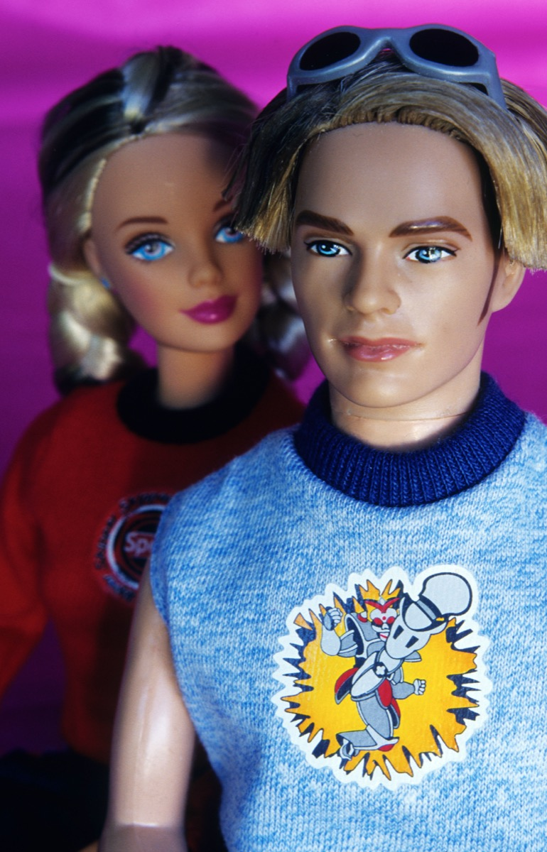Barbie doll during her brief relationship with Blaine. Barbie dated Blaine while she and Ken were on a break.