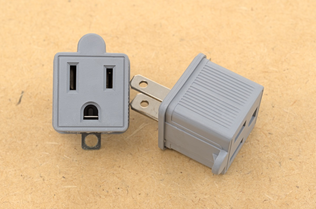 three prong to two prong electrical outlet adapter