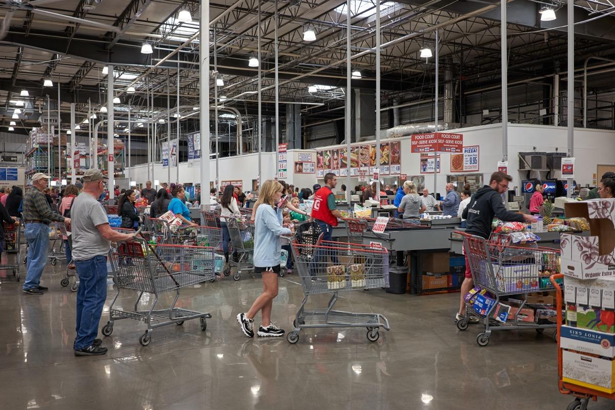 Costco checkout lines