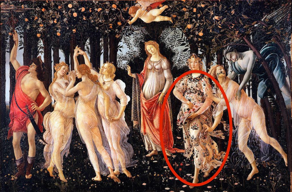 D3FHD0 Sandro Botticelli, Spring (Primavera) 1482 Tempera on panel. Uffizi, Florence