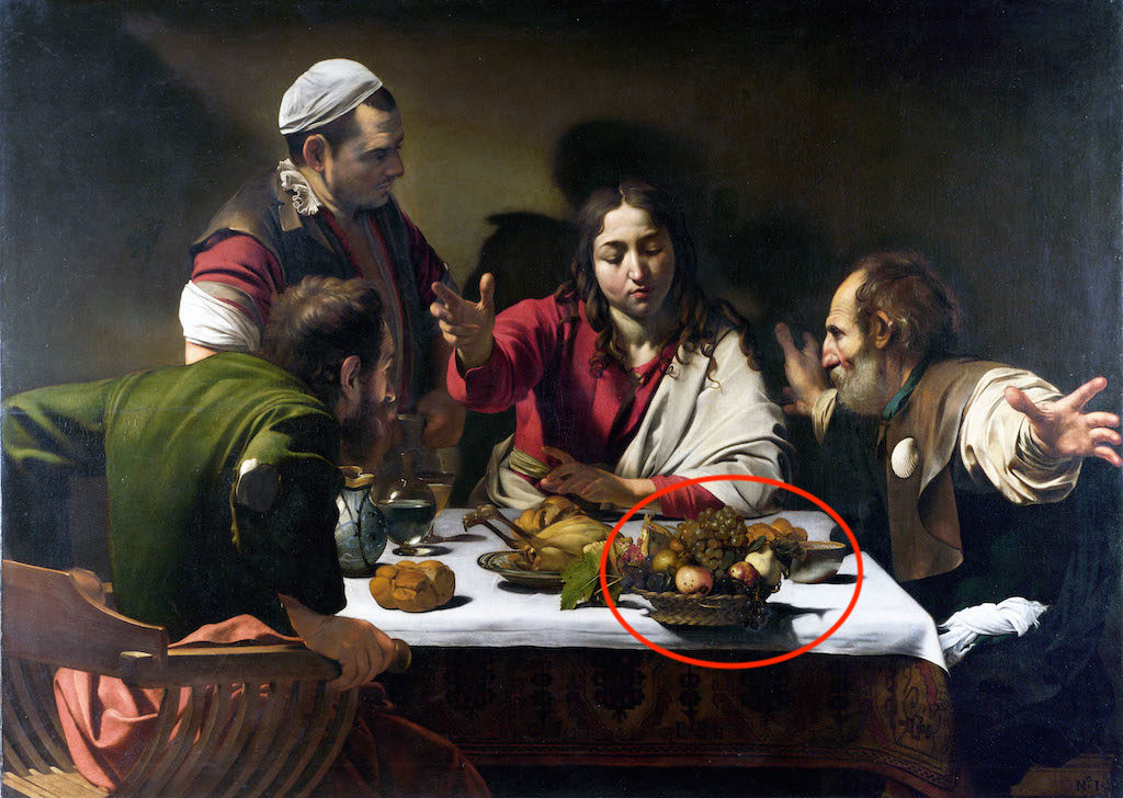 E16KKF Supper at Emmaus by Caravaggio, 1601