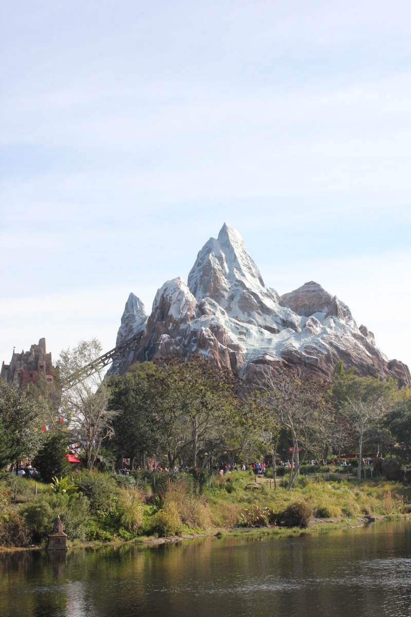 Expedition Everest roller coaster in Disney World's Animal Kingdom, Disney facts