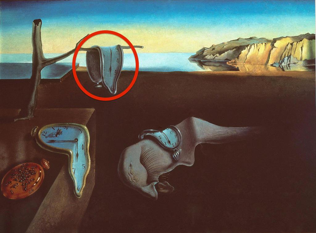 F5HK3B Salvador Dali - The Persistence of Memory