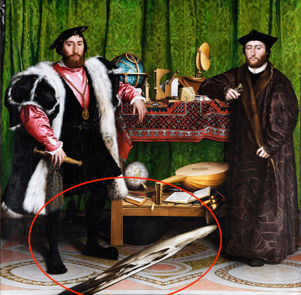 M46PWA The Ambassadors by Hans Holbein the Younger
