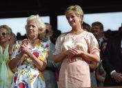 Princess Diana and her mother at Wimbledon