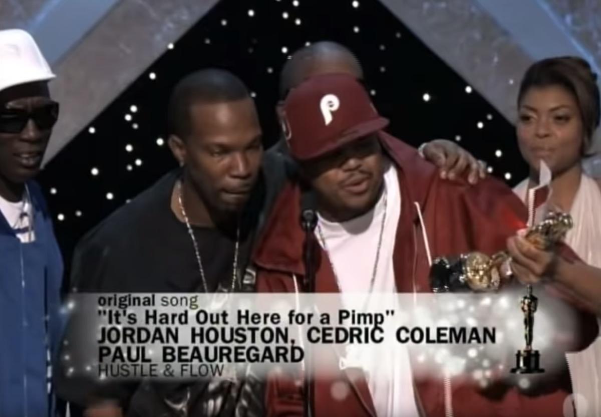 Three 6 Mafia Accepting Their 2006 Oscar Win