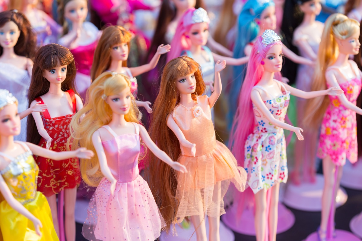 Collection of Barbie dolls