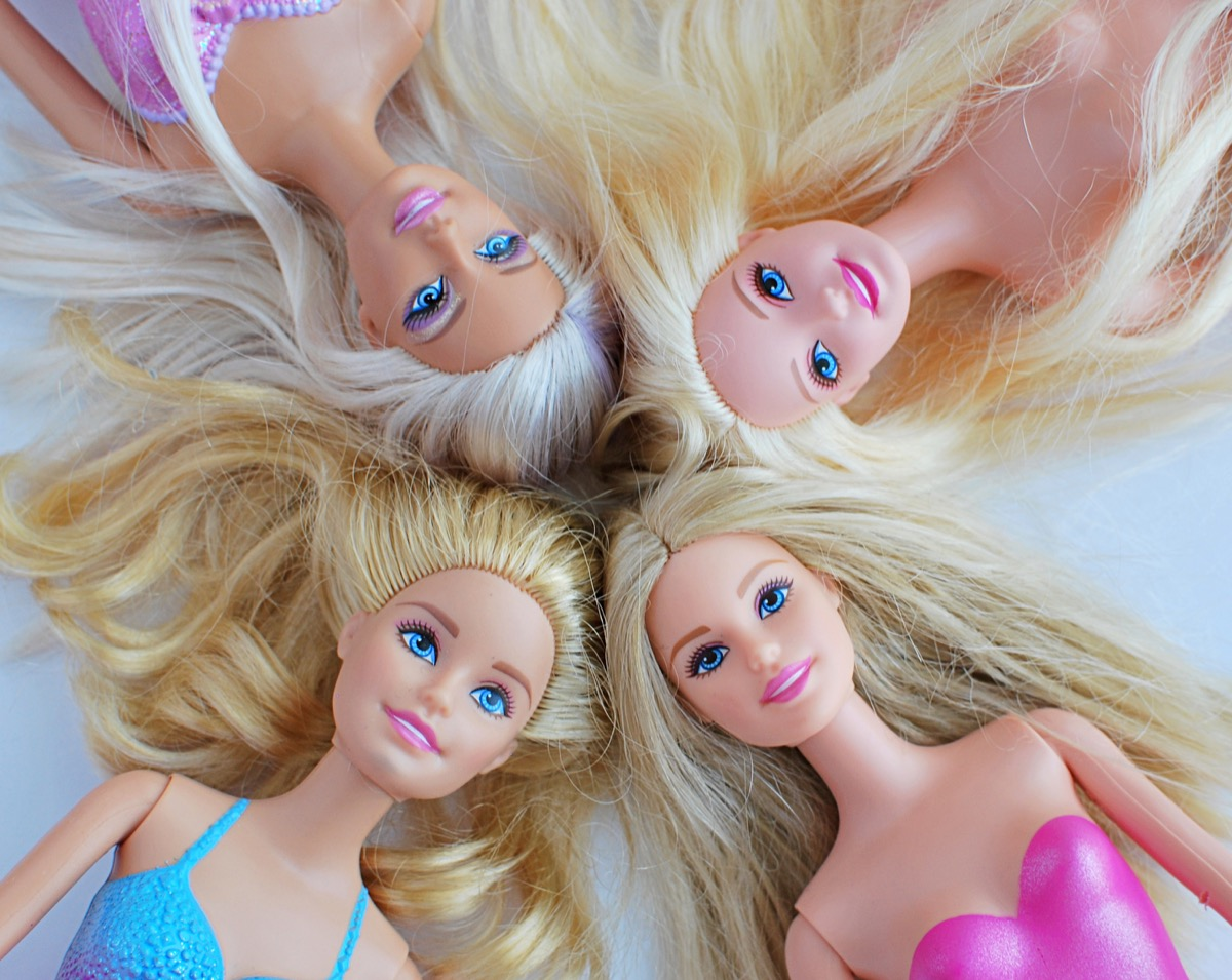 Vilnius, Lithuania, May 14, 2018: Barbie dolls with blonde hair. - Image