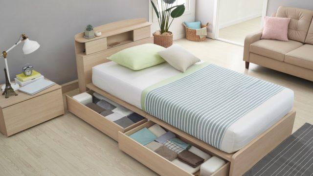 Bed With Storage Under It {No Closet Space}