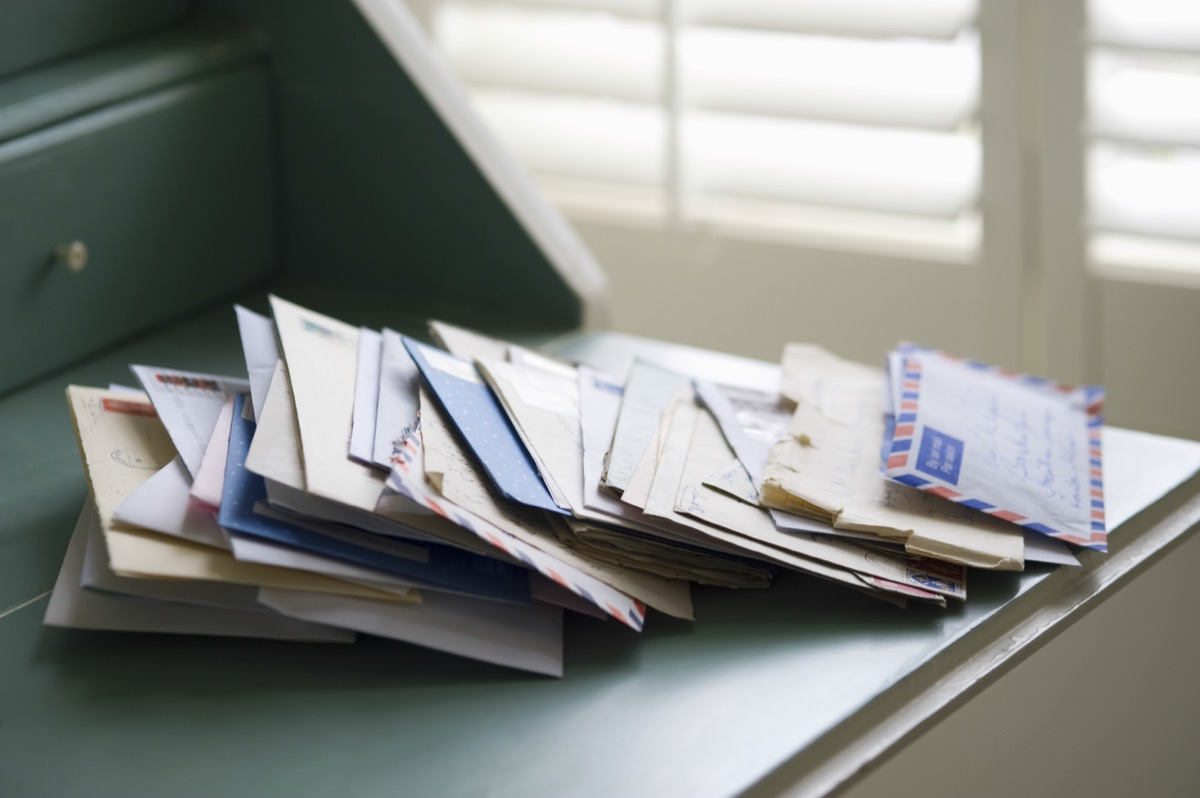 Pile of Mail on a Desk {Home Organization Tips}