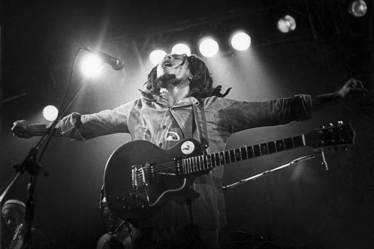 BOB MARLEY Jamaican reggae musician in 1976