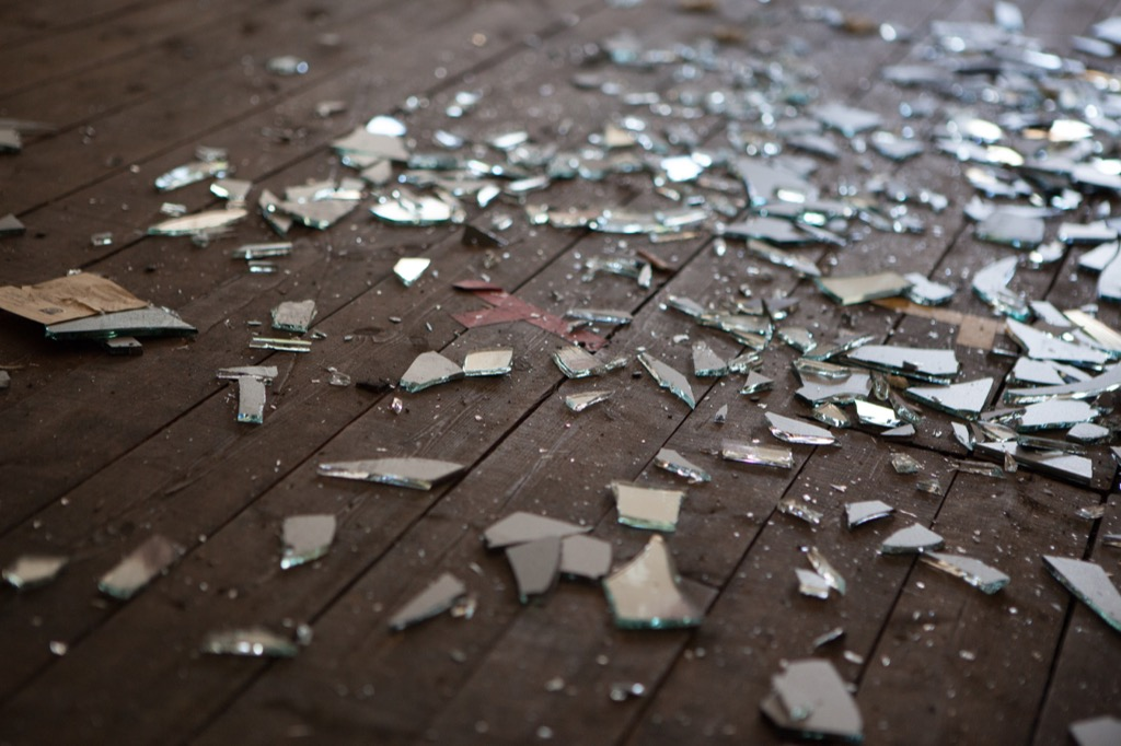 Floor Covered with Broken Glass {Get Rid of Old Stuff}