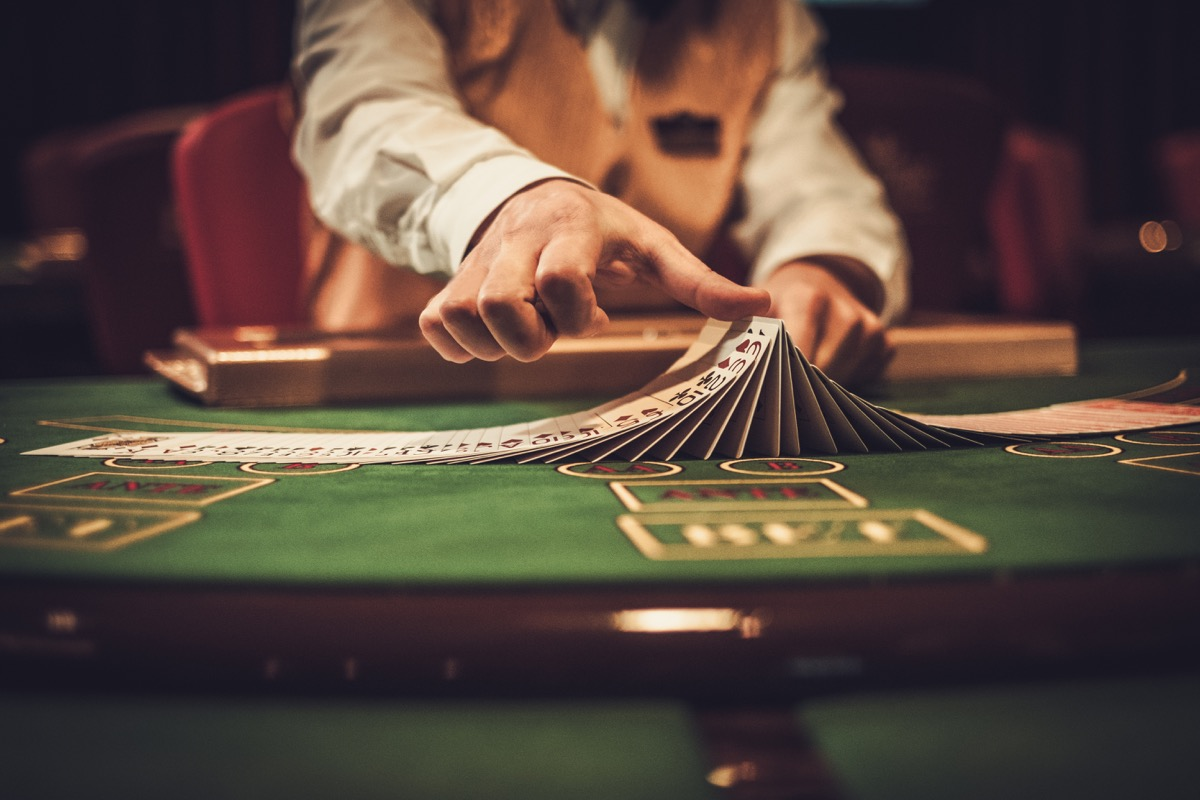 Croupier behind gambling table in a casino jobs with high divorce rates