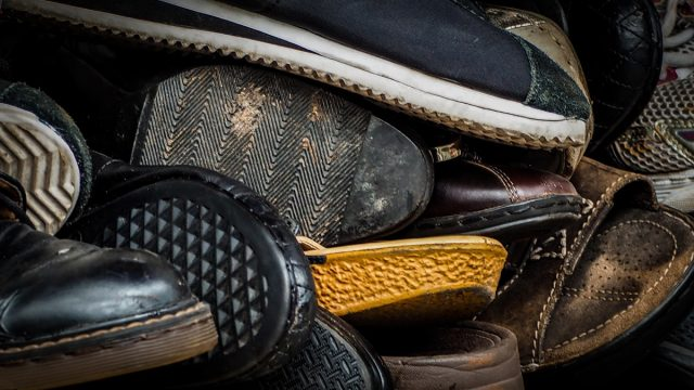hoarder's shoes