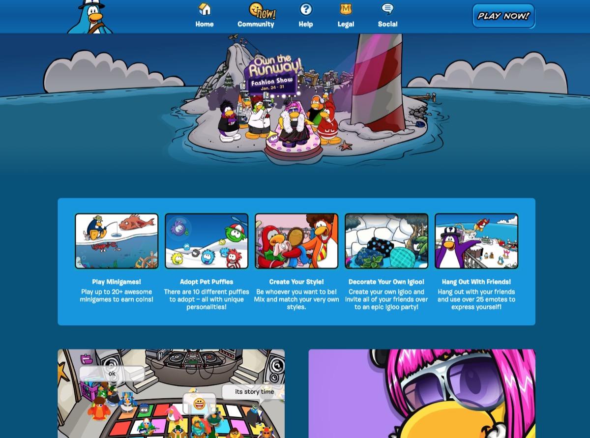 screenshot of club penguin rewritten