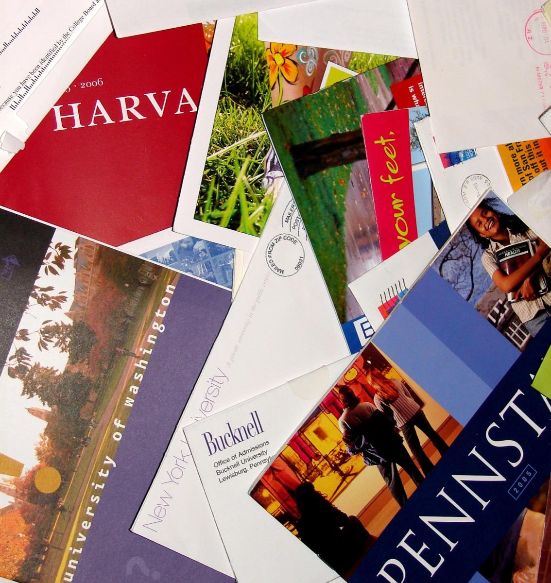 Pile of College Brochures {Secrets Your Mailman Knows}