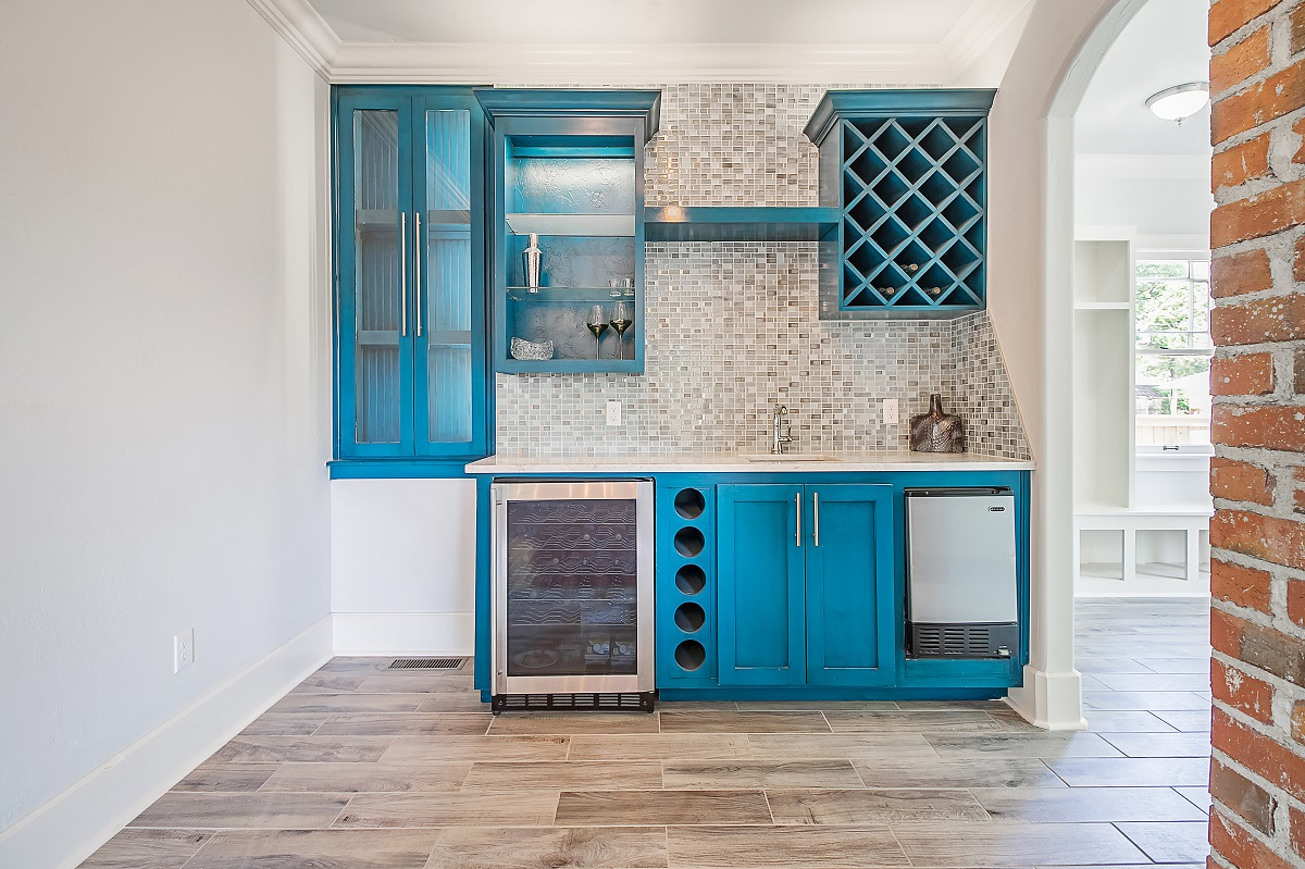 Colorful kitchen cabinets Affordable ways to remodel your home