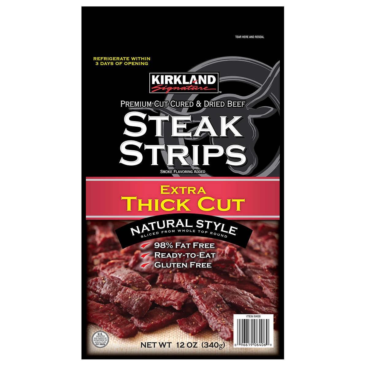Costco Steak Strips {Costco Store-Brand}