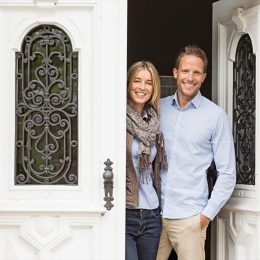couple at the front door