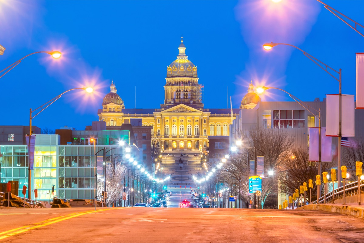 state capitol in des moines iowa