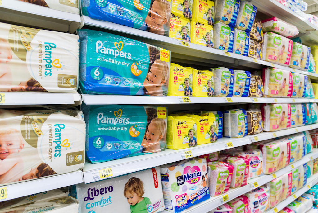 Diapers in Store {Never Buy at Walmart}