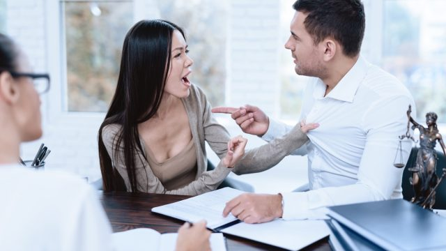 Couple Arguing about Divorce {How Much Does a Divorce Cost}