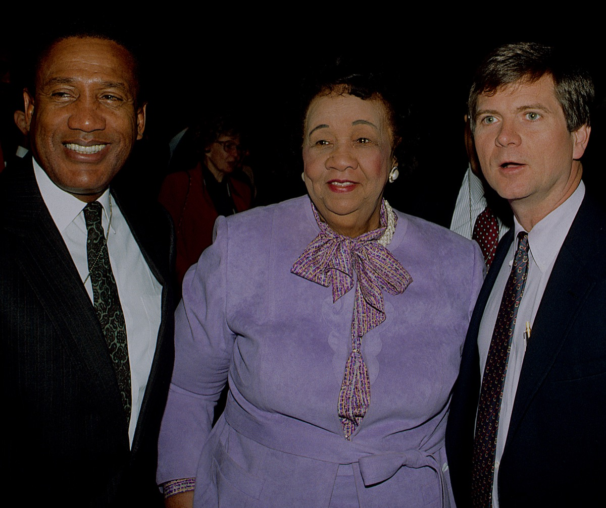 dorothy height and lee atwater at an MLK reception